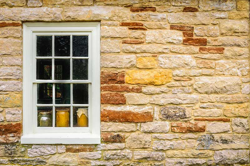 Window in a brick house