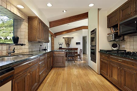 oak wood kitchen