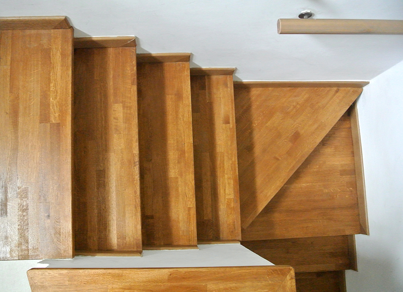 internal wooden staircase, perfect fit for the space